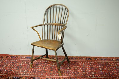 Lot 7 - 19th C Windsor chair.