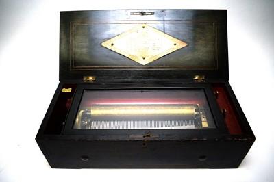 Lot 573 - Swiss cylinder musical box