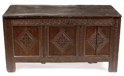 Lot 826 - 17th Century and later oak coffer