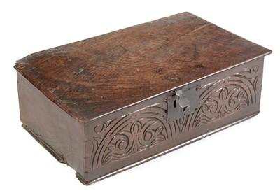 Lot 825 - 18th Century and later oak Bible box