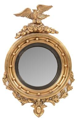 Lot 773 - Regency style convex mirror