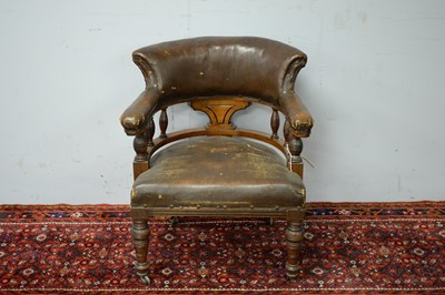 Lot 65 - Late 19th/early 20th C smoker's chair.