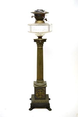 Lot 327 - A corinthian column form oil lamp base