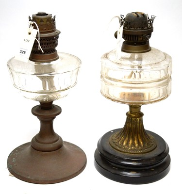 Lot 328 - Two late Victorian oil lamp bases