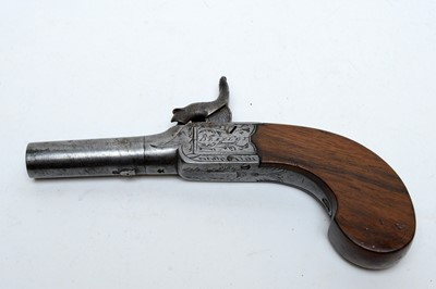 Lot 1081 - An early 19th Century percussion pocket pistol by Bentley of London.