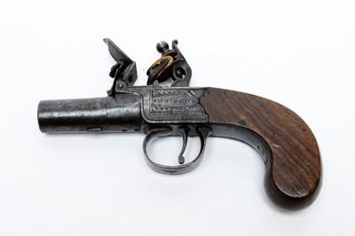 Lot 1082 - An early 19th Century flintlock pocket pistol by Richard Booth of Sunderland.