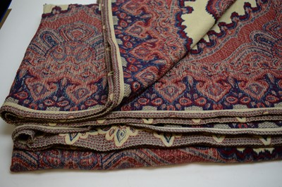 Lot 489 - Pair of Mulberry paisley pattern throws.