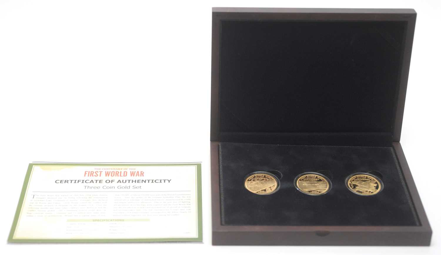 2 - The Centenary of the First World War three coin gold set