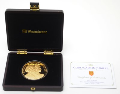 Lot 6 - Coronation Jubilee £10 gold proof coin