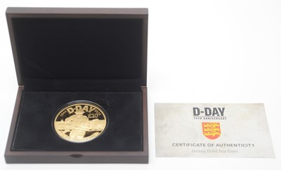 Lot 10 - A D-Day 70th Anniversary gold 5oz coin
