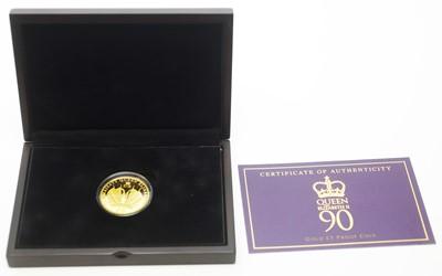 Lot 11 - A Queen Elizabeth II 90th Birthday £5 gold proof