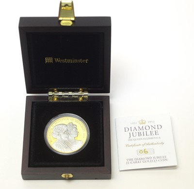 Lot 19 - A Diamond Jubilee Guernsey £5 gold coin