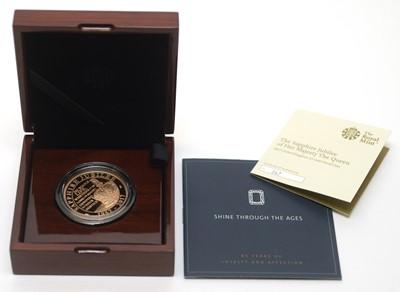 Lot 25 - A Queen Elizabeth II Sapphire Jubilee £5 gold proof coin