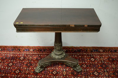 Lot 79 - William IV rosewood card table.