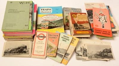 Lot 1228 - A selection of Railway and Train Spotting ephemera