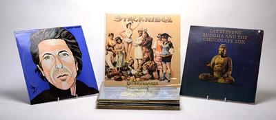 Lot 888 - Leonard Cohen, Stackridge, and Cat Steven LPs