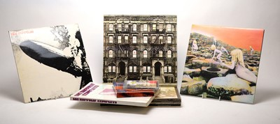 Lot 894 - 9 Led Zeppelin LPs and associated CD DVD and book