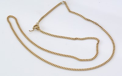 Lot 285 - 18ct. yellow gold chain necklace.