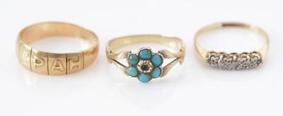 Lot 286 - Three rings, various.