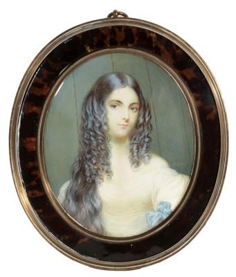 Lot 84 - P* Legros - Portrait miniature
