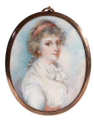 Lot 93 - British School, late 18th Century - Portrait miniature