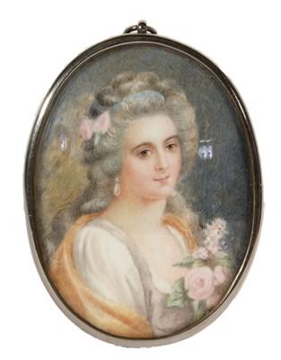 Lot 87 - French School, late 18th Century - Portrait miniature