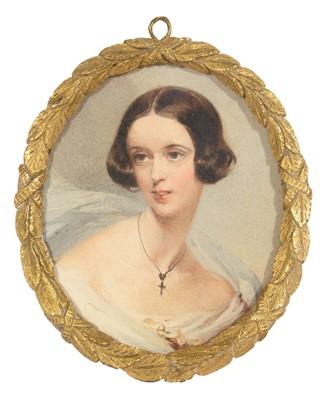 Lot 88 - British School, 19th Century - Portrait miniature