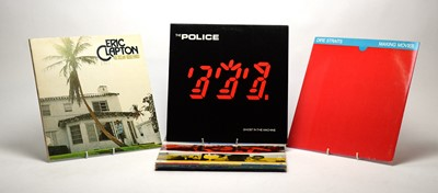 Lot 947 - Eric Clapton, Dire Straits, and The Police LPs