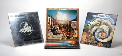 Lot 950 - Moody Blues, ELO, and Bad Company LPs