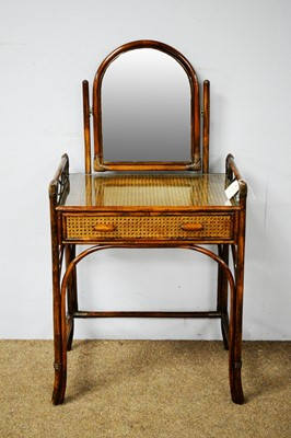 Lot 86 - An early 20th Century bentwood and canework washstand
