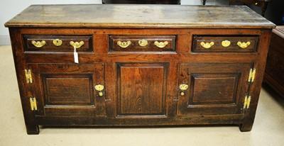 Lot 119 - George III oak dresser base.