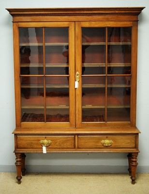 Lot 121 - 19th C bookcase on stand.