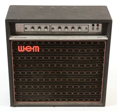 Lot 582 - A Watkin Dominator 50 guitar amplifier.