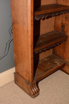 Lot 640 - Victorian oak open bookcase