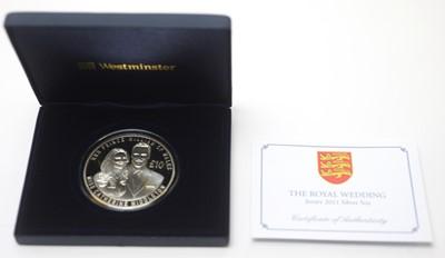 Lot 31 - The Royal Wedding Jersey 2011 silver 5oz coin