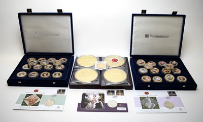 Lot 33 - Royal interest plated medallions