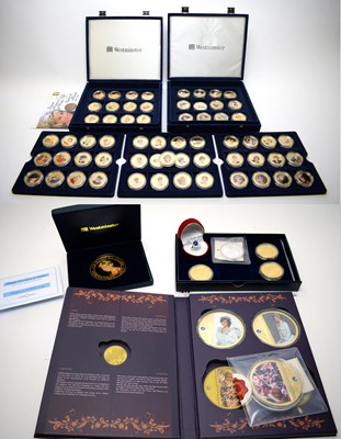 Lot 38 - Princess Diana interest proof coins