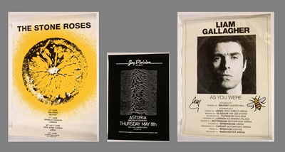 Lot 872 - Three unframed music posters-- Stone Roses 93...