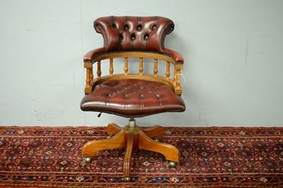 Lot 77 - 20th C captain's chair.