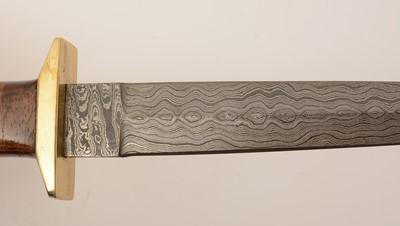 Lot 1084 - 20th Century Damascus commando-style knife