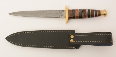 Lot 1085 - 20th Century Damascus Commando style knife