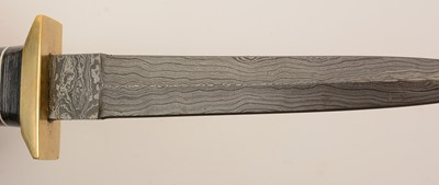 Lot 1086 - 20th Century Damascus commando-style knife