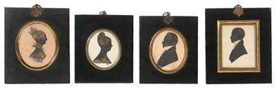 Lot 90 - British School, 19th Century - Portrait silhouettes
