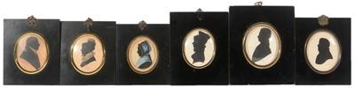 Lot 91 - British School, 19th Century - Portrait silhouettes