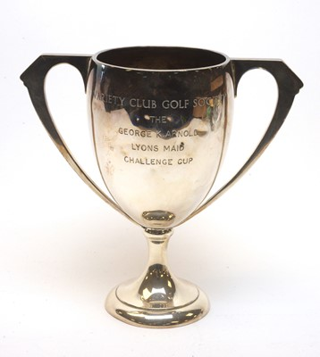 Lot 203 - Two-handled silver trophy cup