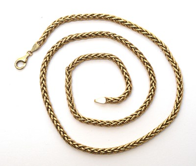 Lot 220 - 9ct yellow gold chain necklace