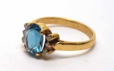 Lot 228 - Topaz and diamond ring