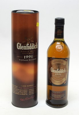 Lot 9 - Glenfiddich 1991 Vintage Reserve Don Ramsay L.E. Single Malt Scotch Whisky.