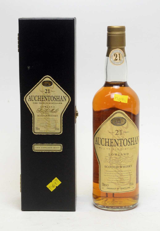 Lot 10 - Auchentoshan Aged 21 Years The Triple Distilled Single Malt Scotch Whisky