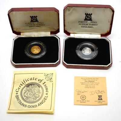 Lot 40 - Pobjoy gold and platinum coins